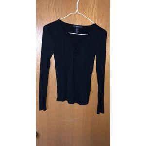 Forever 21 Black Long Sleeved Shirt
